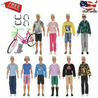 26 Pcs Doll Clothes & Accessories Ken Dolls Includes 20 Different Wear Clothes