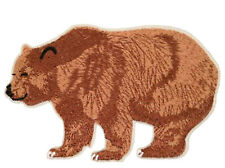 Brown Bear - Wild Animal - Zoo - Bear - Grizzly - Embroidered Iron On Patch