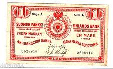 Finlande RUSSIE FINLAND RUSSIA Billet 1 MARKKA 1915 P16 SERIE A BON ETAT