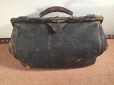 Vintage Antique Large Leather Doctor S Medical Bag Lined 16