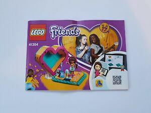 Lego Friends Andrea's Heart Box 41354 Insruction Book