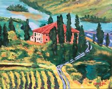 TUSCANY Vineyard Original Art PAINTING Artist DAN BYL Impressionism 4ft x 5ft