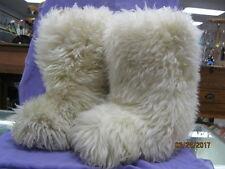 UGG Furry Shag Sheepskin  Boots, Size 5
