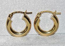 9CT GOLD PLAIN CREOLE HOOP LADIES EARRINGS ~