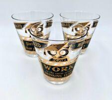 Set of 3 Georges Briard Muddled Wisdom 4 inch Rocks Low Ball Glasses – Barware