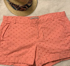 Gap Women Pink Pockets Eyelet Pattern Shorts Size 6