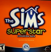 THE SIMS SUPERSTAR EXPANSION  PACK TWO PC-CD ROM'S (NEAR-MINT)    #5