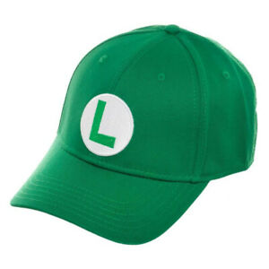 Super Mario Bros. Luigi Flex Fit Green Men's Hat Green
