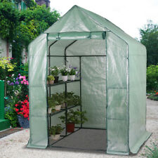 1.9 x 1.4M Greenhouse Walk-In Plant Garden Storage Green House Grow Shed PE Tent