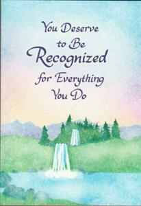 Blue Mountain Arts Greeting Card, YOU DESERVED TO BE RECOGNIZED FOR...THANKS