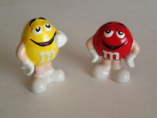 M&Ms 2008 SALT & PEPPER SHAKERS, Red & Yellow, One Owner Collectible Kitchen Fun