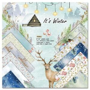 24pcs 6x6 Inch It's Winter Background Paper Pad for Scrapbooking Journal Decor