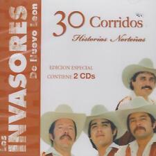 CD - Los Invasores De Nuevo Leon NEW 30 Corridos Nortenas 2 CD's FAST SHIPPING !