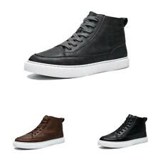 Mens Fashion High Top Sneakers Boards Shoes Outdoor Walking Sports Non-slip New