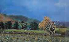 ATMOSPHERIC DALES LANDSCAPE PAINTING WITH SHEEP, AN ORIGINAL PASTEL, SIGNED