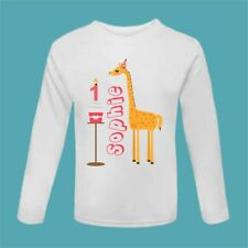 It's My Birthday Giraffe Cake T Shirt Birthday Outfit First Birthday T Shirt