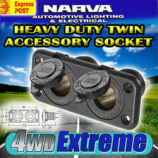 NARVA 81027BL DUAL HEAVY DUTY CIGARETTE LIGHTER SOCKET 12V ADAPTER NEW CARAVAN