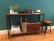Console Table artisan industrial Aged Rust colour finish