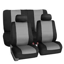 Car Seat Cover Neoprene Waterproof Pet Proof Full Set 2 Headrest Cover Gray