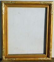 Vintage carved wood, gold leaf frame fits 16 x 20 painting. Outer dim. 21 x 25