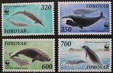 Whales stamps, 1990, Faroe Islands, SG ref: 196-199, 4 stamp set, MNH