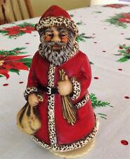Vintage Goebel W Germany Ceramic Santa HX 336 w/Mapsa Music Box, Silent Night