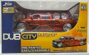 2005 Jada Toys Dub City Dub Shop 1999 Chevy Silverado Dooley Model Truck NIB