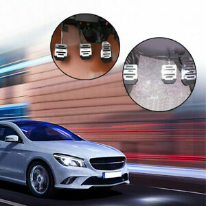 3Pcs/set Silver Non Slip Car Pedal Pad Cover Car Interior Decor Car Accessories