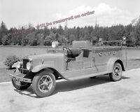 Photograph of a Courtenay Vancouver BC Fire Engine Year 1932  8x10