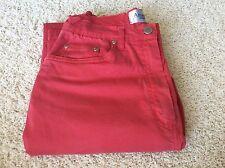 Antonelle Jeans Cotton Spandex Red Denin Boot Waist Belt Loops Small