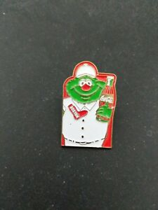 1987 Boston Red Sox Wally The Green Monster and Coca Cola Pin,75 years at Fenway