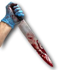 Arma cuchillo Falso sangrienta Halloween Disfraz de Utilería Decoración Cocina De Terror