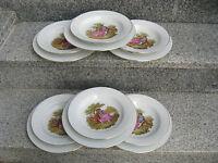 6 SETS 2 ASSIETTES Porcelaine FRAGONARDS filet or