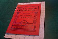 original Catalog: 1939 HUB CYCLE and Radio co inc, 88pgs PEDAL CAR, BIKES, SLEDS