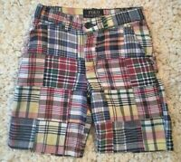 POLO by RALPH LAUREN Boy's Madras Plaid Shorts Size 5T Toddler Preppy Patchwork