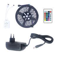 5m RGB LED Steifen Licht Band Kette Für Beleuchtung Für Fernseher und Dekoration