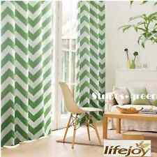 Green Moroccan Nordic Blockout Curtains Stripe Blackout Curtain 180cm x 230cm