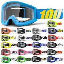 100% Prozent Strata Goggle Brille Klar MTB MX Downhill Mountain Bike Moto Cross