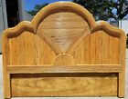 MCM Hand Crafted Gabriella Crespi Style Split Bamboo Reed Queen Full Headboard