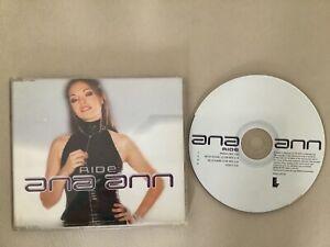 ANA ANN Ride CD Single Enhanced 3 Tracks & Video