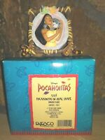 POCAHONTAS WITH MEEKO VINTAGE RESIN HANGING PLAQUE FIGURINE BY ENESCO, NEW MIB