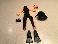 Vintage GI Joe Scuba Dive Outfit & Accessories Very Nice Condition Used
