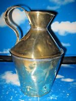 Antique Brass Lead Soldered Water Jug / Pitcher