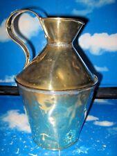 Antique Brass Lead Soldered Water Jug / Pitcher