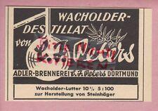 DORTMUND, Werbung 1954, Adler-Brennereien C. J. Peters Wacholder-Destillat