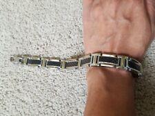 "Men's Chisel Tungsten Silver Plated Bracelet 9"" length"
