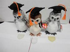 TY Beanie Baby Owls Wise Wiser and Wiser Class of 98 and Class of 99 Lot of 3