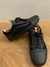 vans california Reissue Old Skool Wool Leather Black Men's Size 6.5 Women's 8