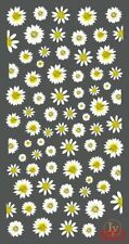 Nail Art 3D Decal Stickers White Daisy Flowers Ly003