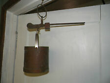 Old Vtg Antique Brass Balance Beam Bushel Bucket Scale Rustic Farm Decor